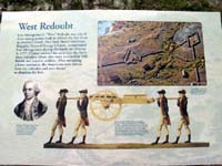 Click to enlarge photo of Sign at Fort Montgomery West Redoubt.