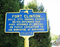 Click to enlarge sign at Fort Clinton in the Revolutionary War