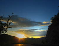 Click to enlarge photo of Sunset Bear Mountain road